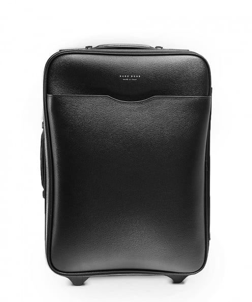 BOSS Leather Signature_Trolley Cabin Bag