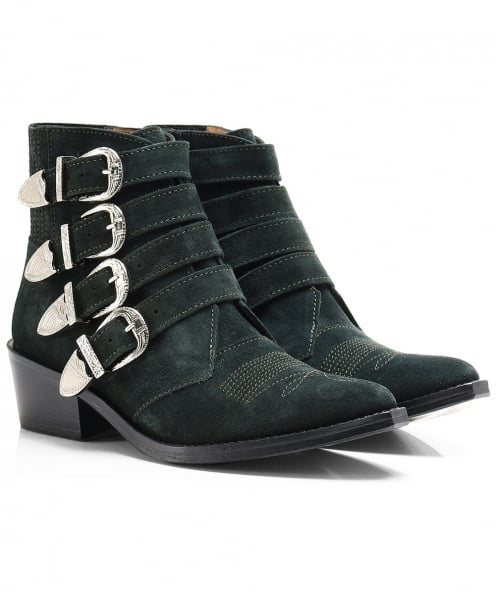 Toga Pulla Suede Multi Buckle Boots