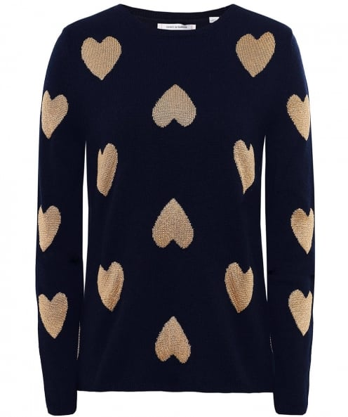Chinti & Parker Merino Wool Heart Jumper