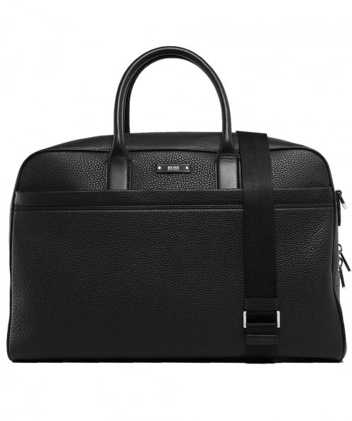 BOSS Grain Leather Traveller Holdall