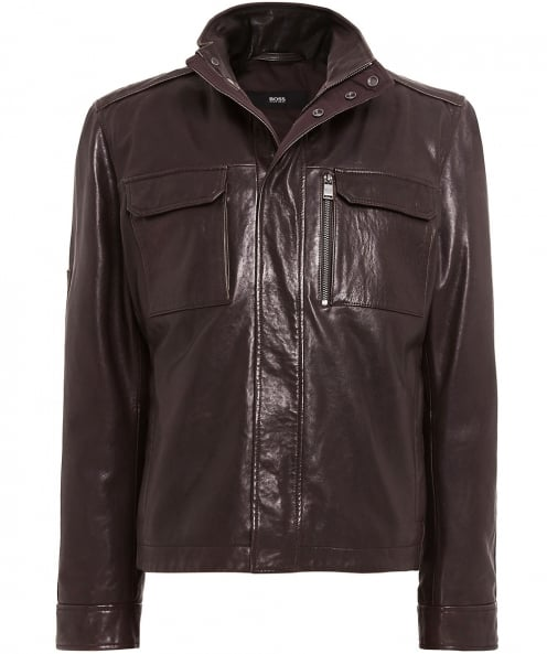BOSS Leather Gwendon Jacket