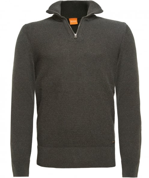 BOSS Orange Wool Almore Half-Zip Jumper