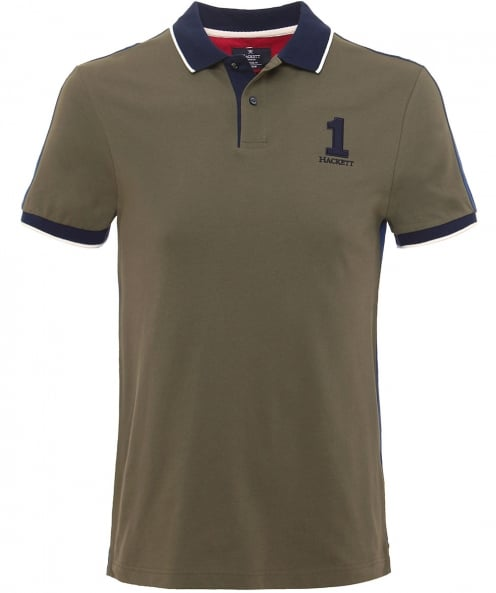 Hackett Classic Fit Block Panel Polo Shirt