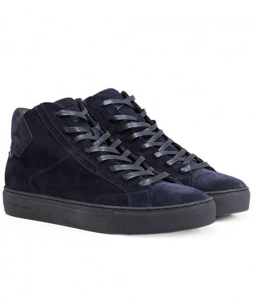 Crime London Suede High-Top Undercover Trainers