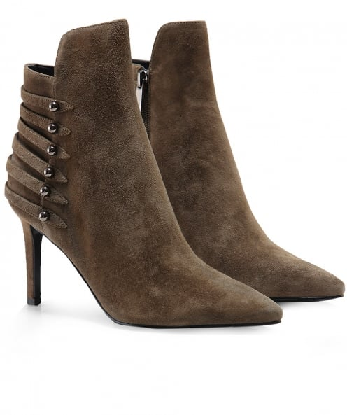 Kendall and Kylie Suede Leah Ankle Boots