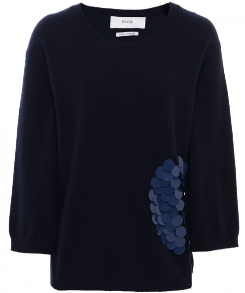 In.No Wool Nikita Sequin Patch Jumper