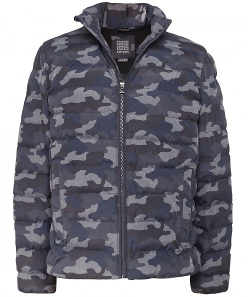 Geox Quilted Camo Print Jacket
