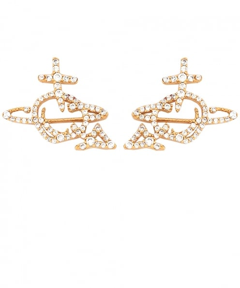 Vivienne Westwood Accessories Orb Diamante Earrings