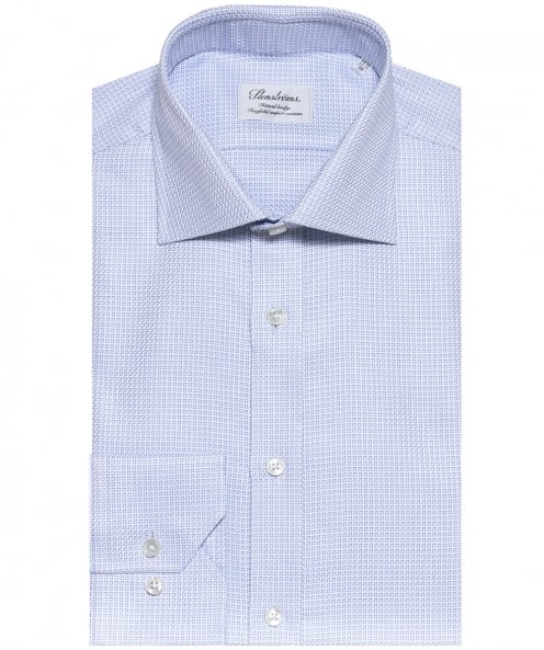 Stenstroms Fitted Square Print Shirt