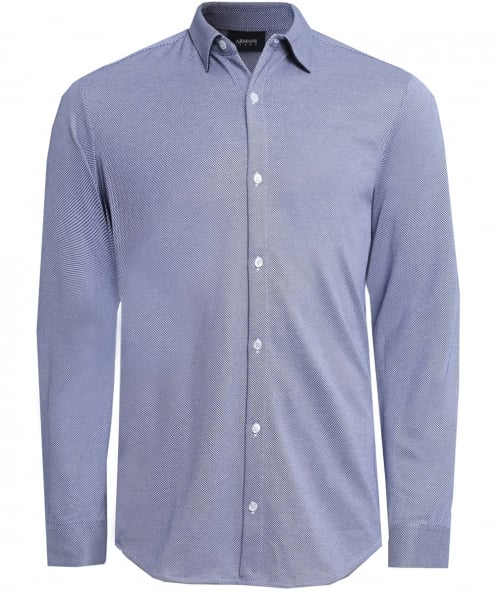 Armani Jeans Slim Fit Houndstooth Shirt