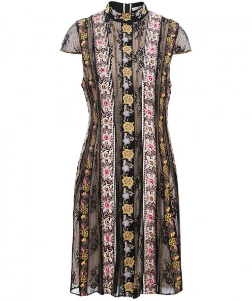 Alice and Olivia Embroidered Gwyneth Dress