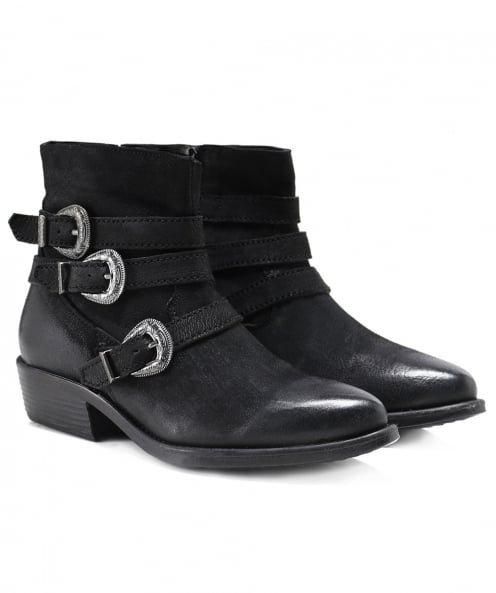 Inuovo Leather Paraselene Buckle Strap Boots