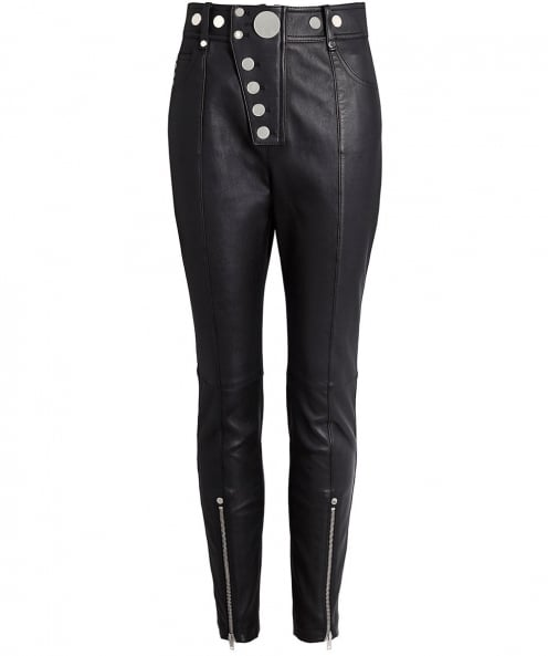 Alexander Wang Leather High Waisted Leggings