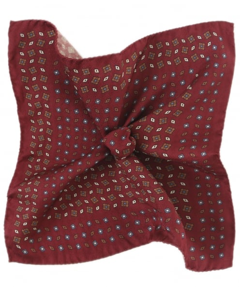 Eton Patterned Silk Pocket Square