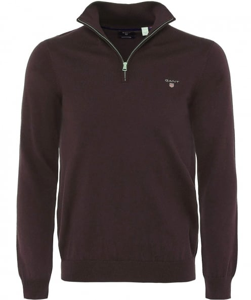 Gant Cotton Half-Zip Sacker Jumper