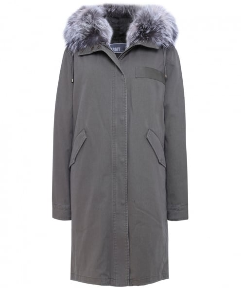 Yves Salomon Long Fur Trim Parka