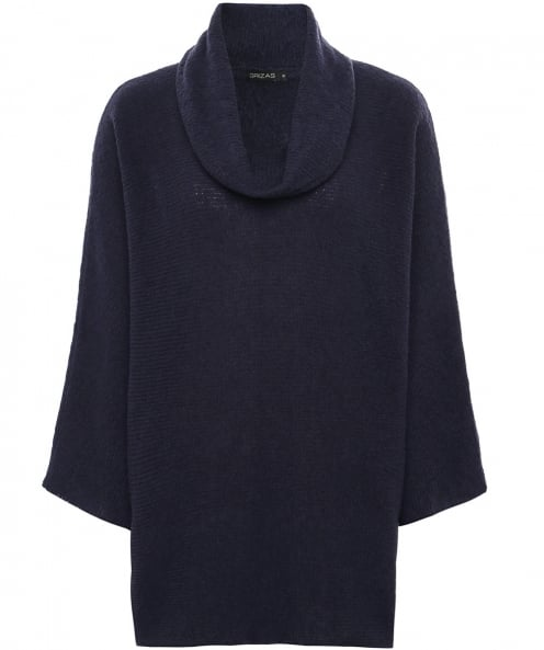 Grizas Cowl Neck Ribbed Jumper