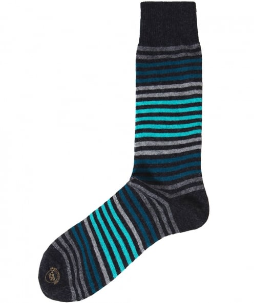 Effio Wool Blend Royal Stripe Socks