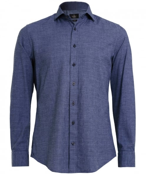 Hackett Slim Fit Prince of Wales Check Shirt