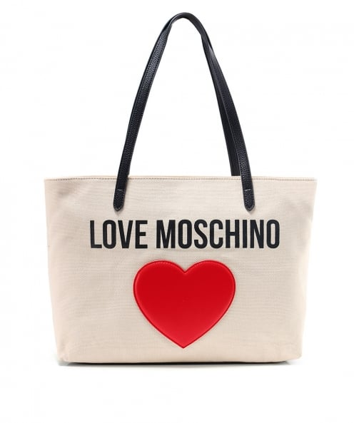 Moschino Love Moschino Canvas Logo Shopper Bag
