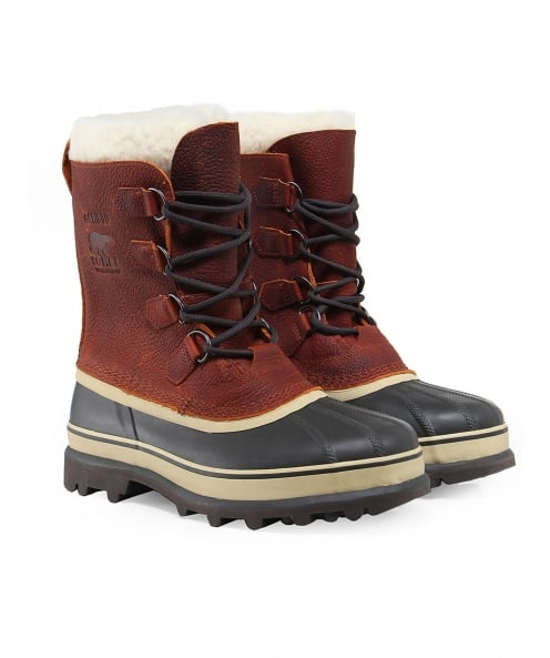 Sorel Leather Caribou Wool Boots