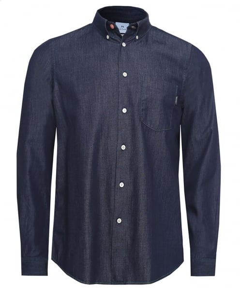 PS by Paul Smith Tailored Fit Indigo Dyed Shirt
