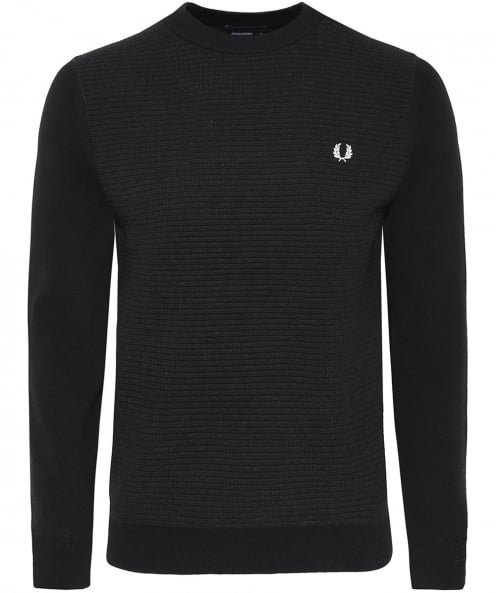 Fred Perry Textured Wool Blend Jumper