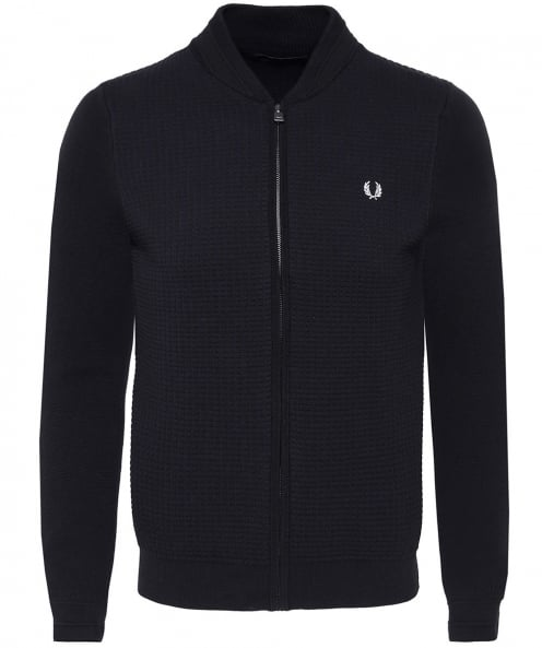 Fred Perry Textured Bomber Cardigan