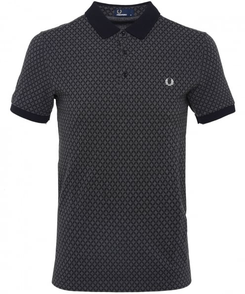 Fred Perry Graphic Print Polo Shirt