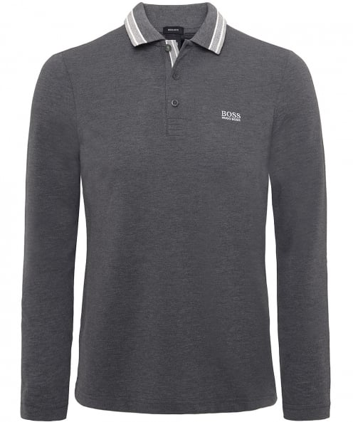 BOSS Long Sleeve Plisy Polo Shirt