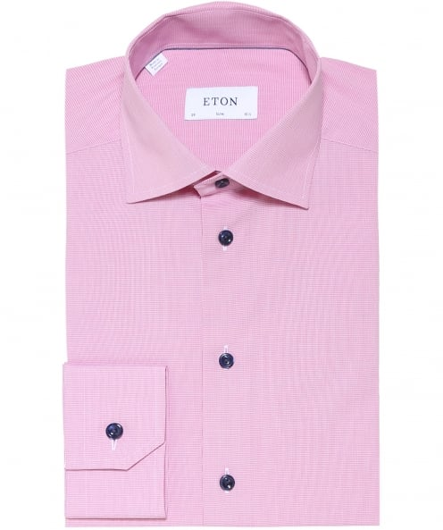 Eton Slim Fit Micro Houndstooth Shirt
