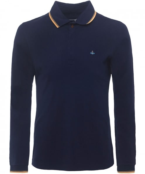 Vivienne Westwood Man Organic Cotton Long Sleeve Polo Shirt