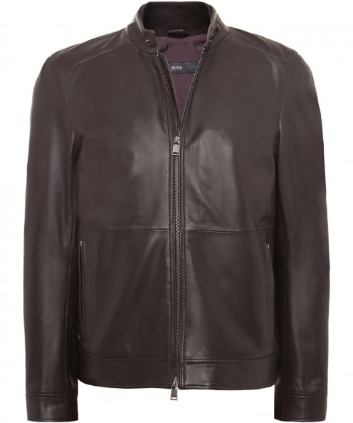 BOSS Leather Norbas Jacket