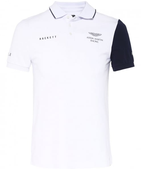 Hackett Slim Fit Contrast Sleeve Polo Shirt