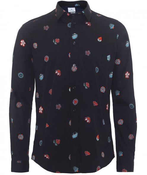 PS by Paul Smith Slim Fit Floral Shirt