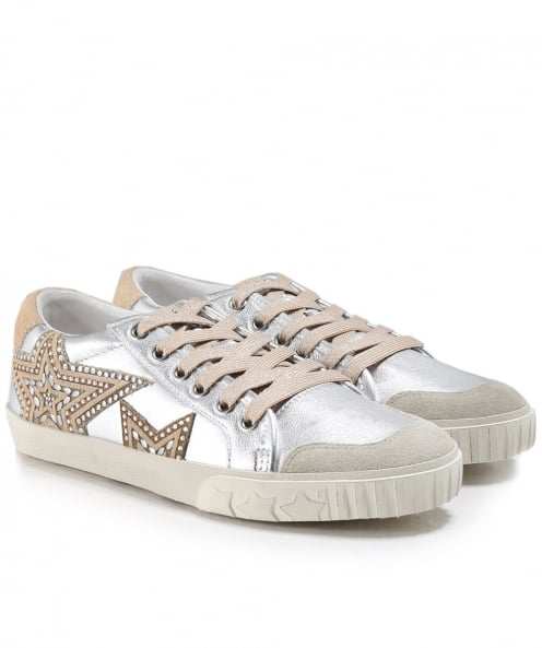 Ash Metallic Leather Magic Trainers