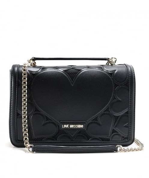 Moschino Love Moschino Small Leather Envelope Shoulder Bag