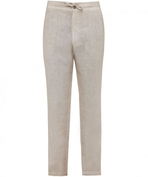 120% Lino Linen Drawstring Trousers