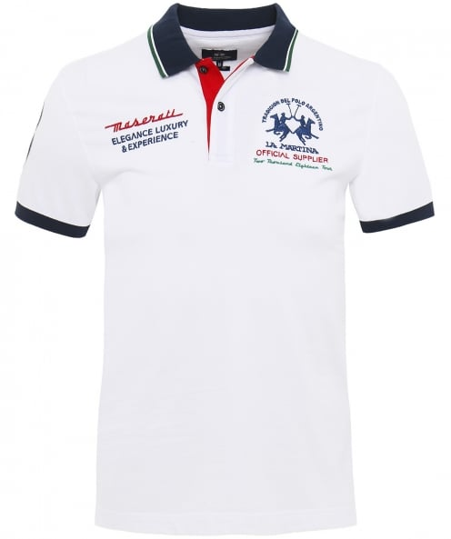 La Martina Slim Fit Pique Zak Trip Polo Shirt
