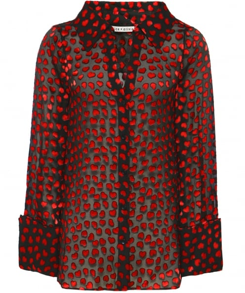 Alice and Olivia Silk Emmerson Shirt
