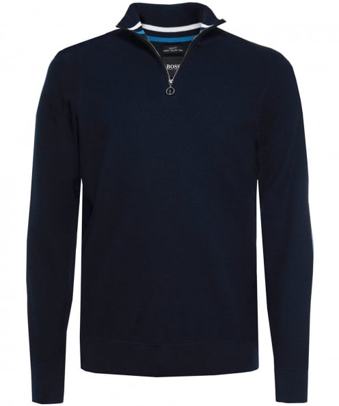 BOSS Slim Fit Cotton Half-Zip Danielo Jumper