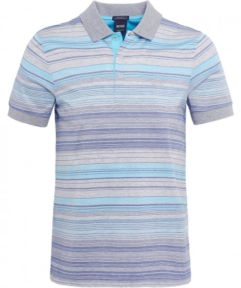 BOSS Regular Fit Striped Paddy 3 Polo Shirt