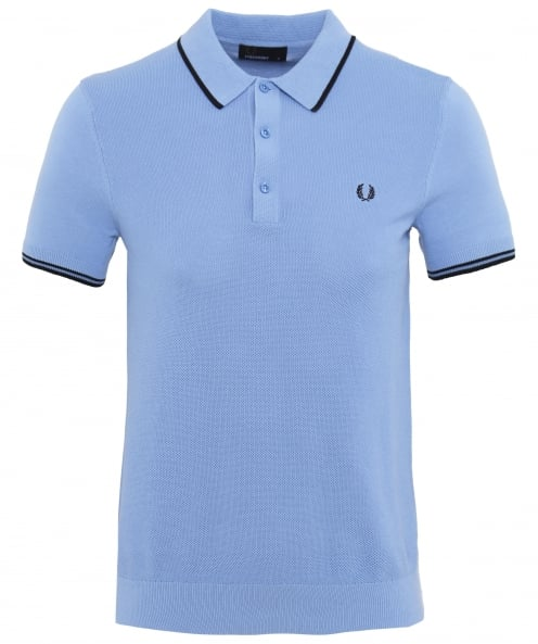Fred Perry Pique Knitted Cotton Polo Shirt