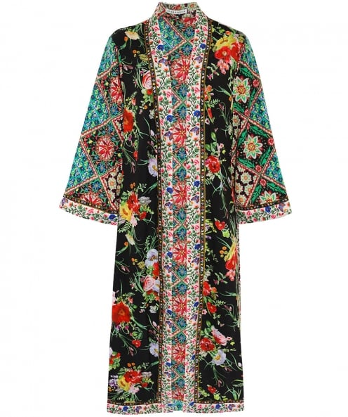 Alice and Olivia Lynn Side Slit Long Kimono