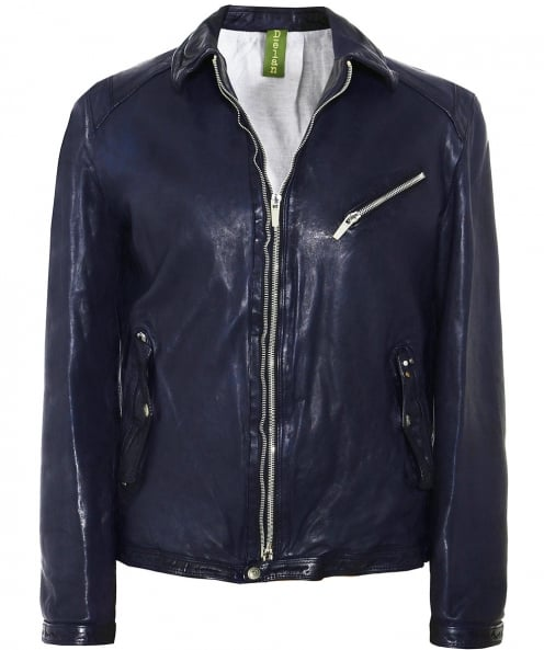 Delan Leather Leather T 309FD Aviator Jacket