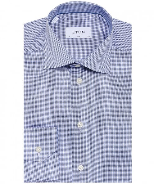 Eton Slim Fit Woven Patterned Shirt