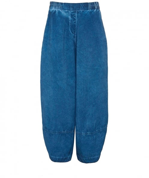 Grizas Washed Linen Cropped Trousers