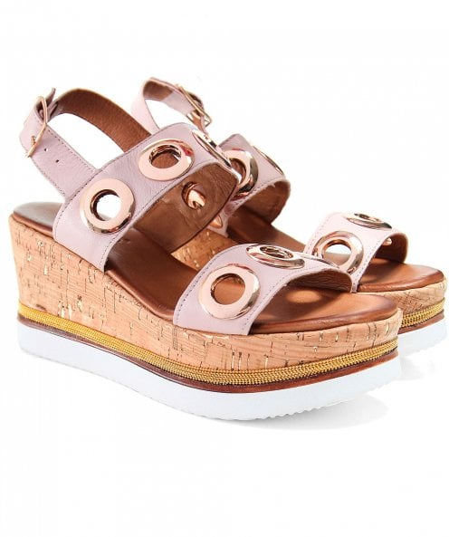Inuovo Eyelet Double Bar Sandals