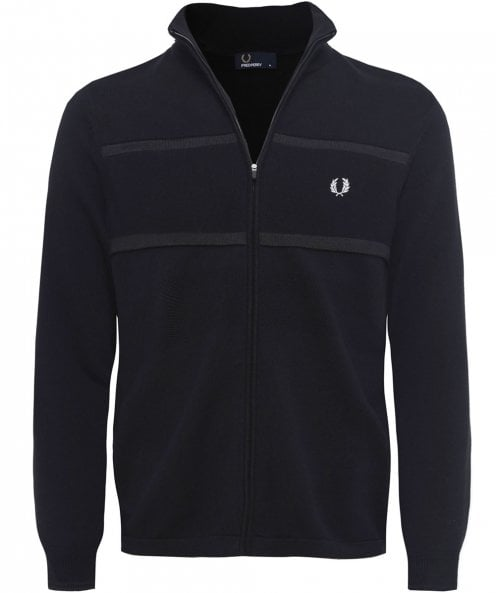 Fred Perry Zip-Through Textured Cardigan