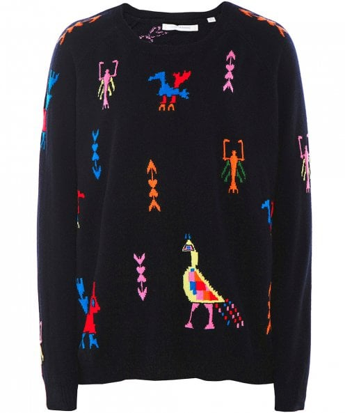 Chinti and Parker Cashmere Aztec Tattoo Jumper
